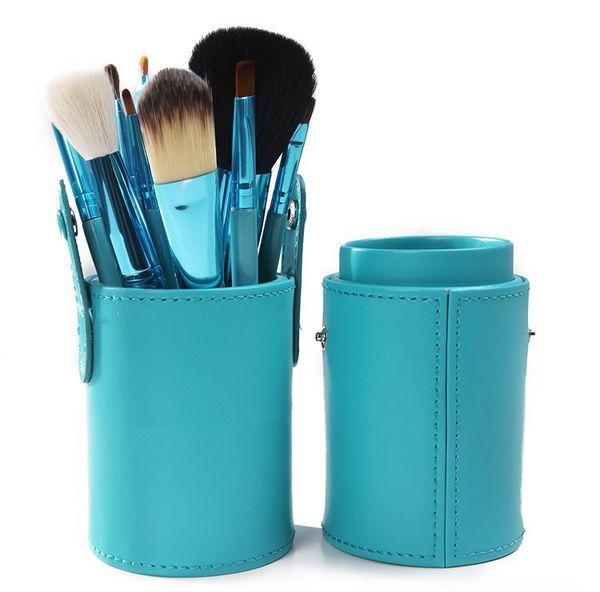 12 PCS Makeup Brush Set+Cup Holder Professional 12 pcs Makeup Brushes Set Cosmetic Brushes With Cylinder Cup Holder