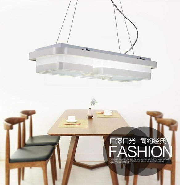 Remote control modern led pendentes luz brief pendant lights for dining room modern suspension luminaire black/white fitting