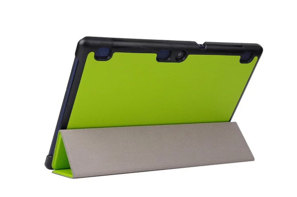 100pcs Luxury Ultra-Thin Flip PU Leather Case Cover for Lenovo TAB 2 X30F A10-30 10.1'' Tablet + Screen Protector Protective Film