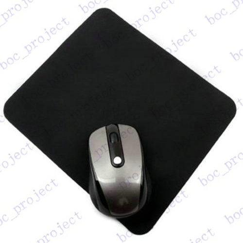 top popular 1.5mm thickness 20.0cmx24.0cm Natural rubber New black tasteless Mice Mouse Pad Mat Mousepad 500pcs lot for free DHL 2020