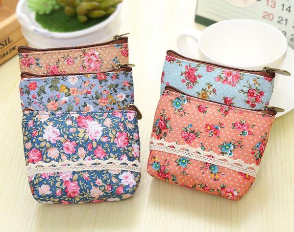 Women Girl Coin Bag Purse Wallet Card Case Gift Florals Money Bags Femmes Free Shipping