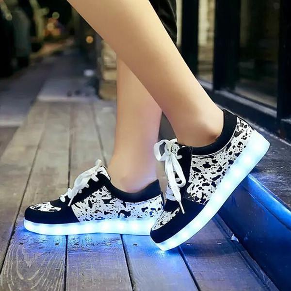 HOT Led Luminous Shoes 2015 Casual Led Shoes For Women & Men Fashion Adult LED Light Up USB re-Charging Chaussure Lumineuse CS12