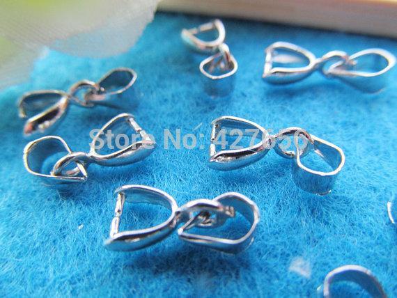 20pcs 5mmx13mm Bon Antique Bronze / Argent Bails Perles Connecteur Pendentif Cham Trouver, Ajuster Charme Bracelet Collier, Accessoire