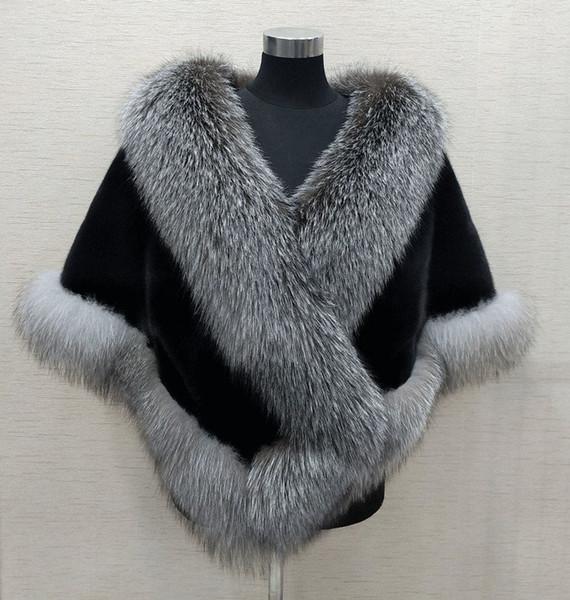 top popular Winter Bridal Faux Fur Wraps Warm shawls Outerwear Shrug Black Gary Burgundy Blue Silver For Bride Bridesmaid Jacket Prom Cocktail 2021
