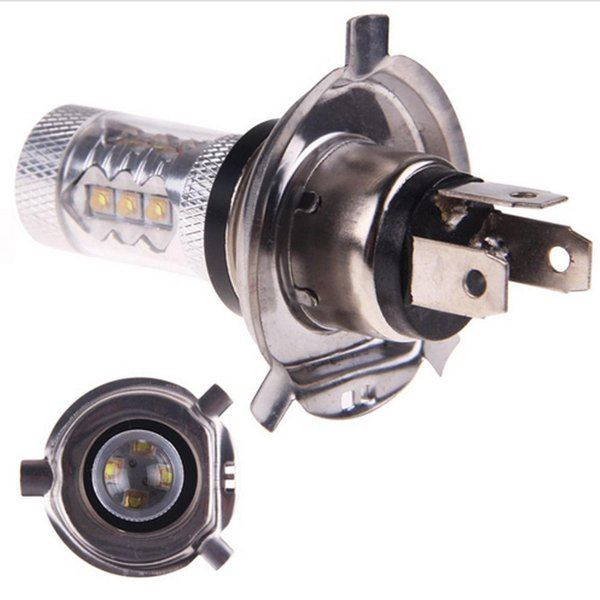 Super White H4 HB2 9003CREE 80W LED Projector Ultra Bright Headlamp Headlight High/low Beam High Power Car Led Fog Light