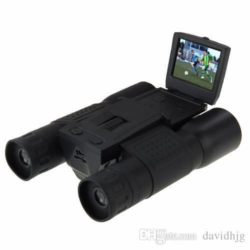 Nouveau Cool Professional FS308 5.0MP CMOS Zoom 12 x 32 HD 1280x720P Avec 2,0 pouces LCD écran télescope jumelles Appareil photo numérique
