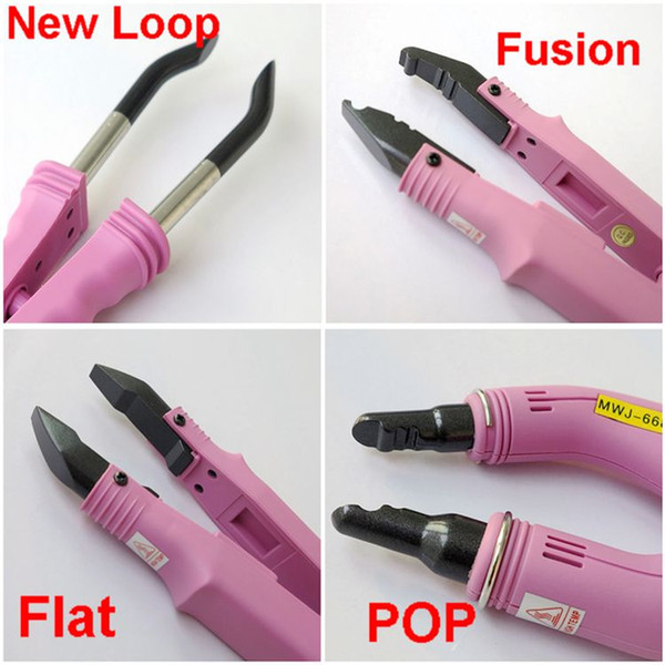 best selling Fusion Hair Extension Iron connector Keratin Bonding Tools Fusion Heat Connector Professional hair extensions Connectors four style