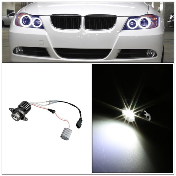 Professional 2Pcs 10W LED Angel Eye Halo Ring Marker Light Bulb for BMW 330i 325i E90 SEDAN E91 WAGON White Car Light Source order<$18no tra