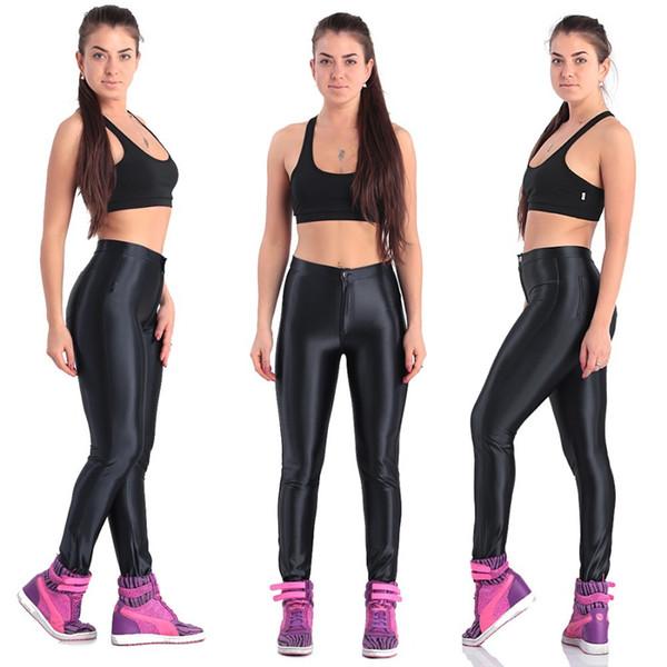 Acheter Plux Gros 2015 Nouveau Mode Taille Leggings Vintage Dull Glossy Pantalons Skinny Crayon De Couleur PANTALON Disco Pantalons Brillant Skinny De