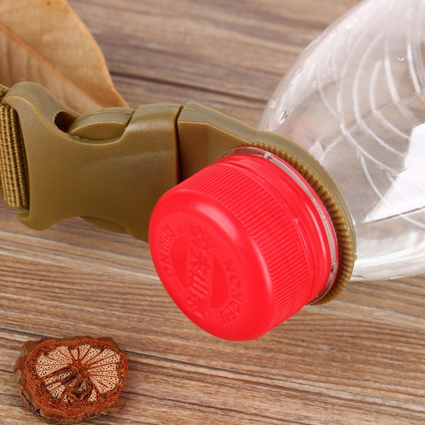 New Water Bottle Outdoor militare Nylon Webbing Buckle Hook Water Bottle Holder Clip EDC Climb Moschettone cintura zaino Hanger Camp