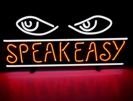 """Fishes Speak Easyy Al Capone Gangsters Chicago Handcrafted Custom Real Glass Tube Neon Beer Bar Dsico KTV Neon Signs Free Design 26""""X12"""""""