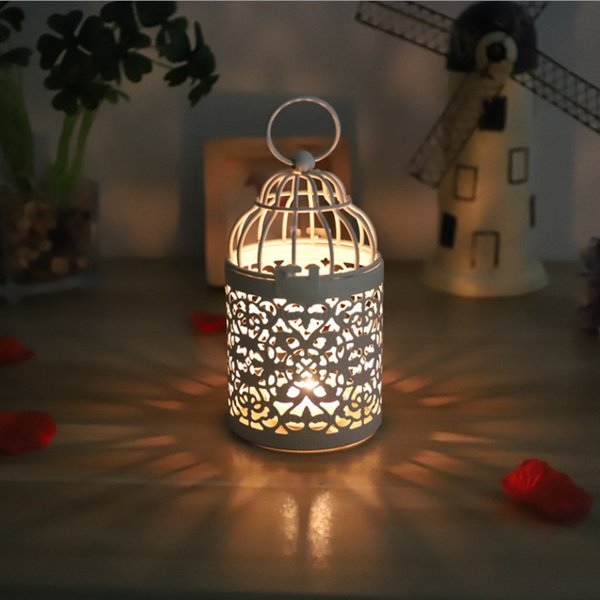 Chirstmas Candle Holder Hollow Hanging Tealight Metal Candlestick Hanging Lantern Centerpiece Bridal Wedding Favors Xmas Party Decoration