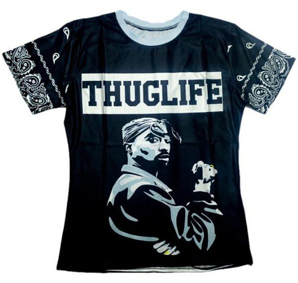 2015 Summer style hip hop t shirt Men/Women THUGLIFE 2pac tupac Print 3d t shirt fashion Street wear plus size S-XXL