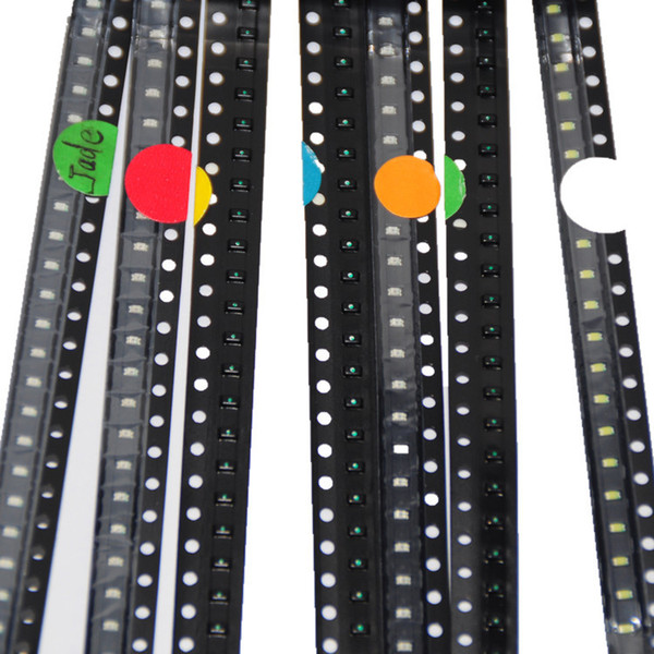 best selling Wholesale-700pcs 0603 SMD LED Assortment Red Green Blue Yellow White Emerald-green Orange 100pcs each SMD LED 0603 Diodes Pack