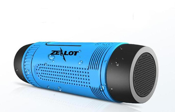 Colorful Zealot S1 Bluetooth Speakers Waterproof Silicone Portable Built-in Battery Subwoofer Loudspeaker For Phone Charging 2016 Newest