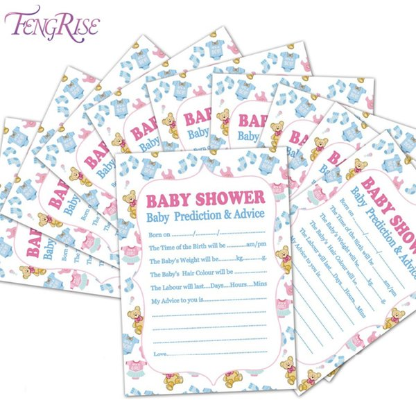 Gros- FENGRISE conseils de pronostic de douche de bébé nouvelle carte de maman son une fête d'anniversaire garçon fille favorise baptême baptême décorations
