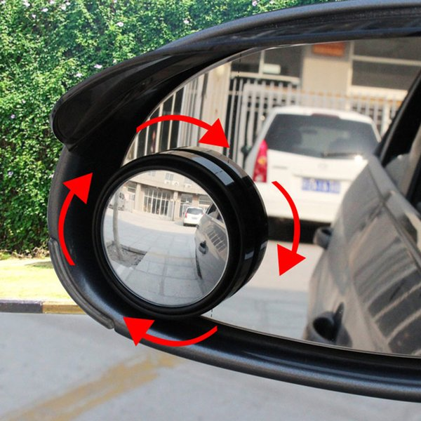 Wholesale-New Driver 2 Side Wide Angle Round Convex Car Automobile Vehicle Mirror Blind Spots area Rear View for parking driving