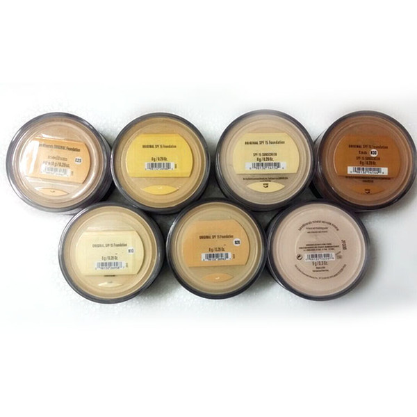 Makeup Minerals Foundation SPF 15 Foundation 8g Fair/Medium/Fairly Light/Medium Beige New Hot 120pcs