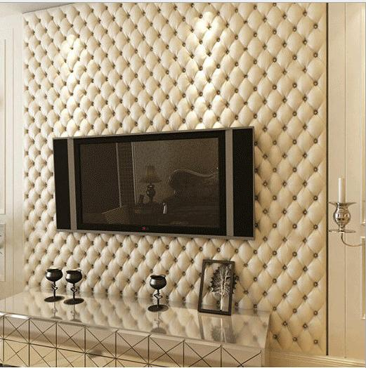 5.3sqm high quality 3d faux leather wallpaper vintage home decor gold wallpaper waterproof vinyl wall paper