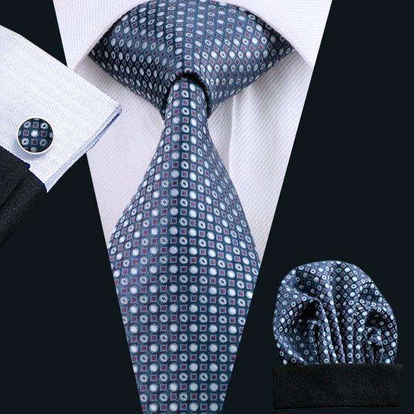 Black And Yellow Patterned Handmade 100% Silk Tie Blue Krawatten & Fliegen Herren-accessoires