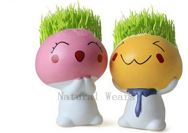 1 oder 4 Pilze Boy Topf Moos Samen Little Baby Doll Blumentopf Kreative Garten Pflanze Vase Blumen Schmuck Container Topf