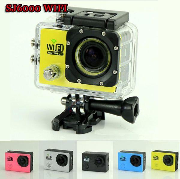 Caméra d'action Original SJ6000 WIFI 30M 1080P étanche Full HD 14MP 2.0''LTPS Mini Sport Mini DV Caméra de sport