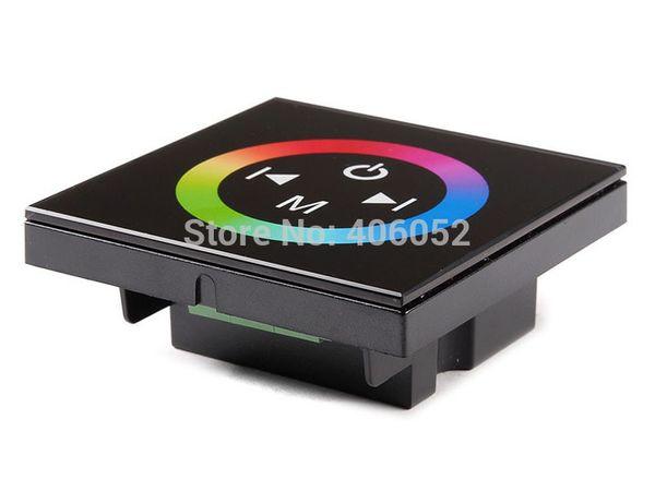 Wholesale-1pcs / lot 도매 벽 LED 터치 패널 마운트 12A 컨트롤러 RGB 스트립 조명에 대 한 dimmer DC12-24V
