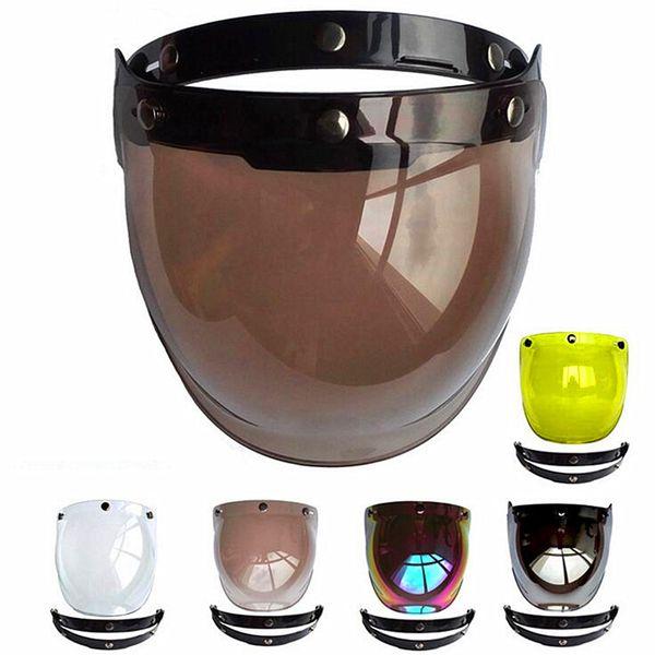 top popular 2019 New Men Women Open Face Motorcycle Helmet Bubble Visor Lens Motorbike Glasses for Harley & Jet Helmet Sunglasses 2021