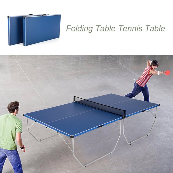 Lixada Folding Table Tennis Table Ping Pong Table Indoor / Outdoor Portable  Ping Pong Practice Home
