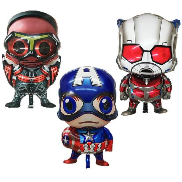 3pcs/set Super hero alliance Foil balloons Avengers Captain America Steel ball chivalry birthday party decorations wholesale
