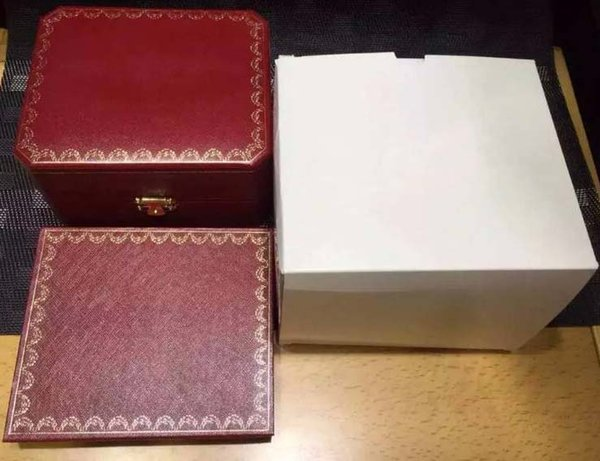 Hot Sale Luxury Womens Women Wristwatch Watch Box Swiss Original Brand Boxes and Papers For Cartie Watches Booklet Card in English Lady Girl