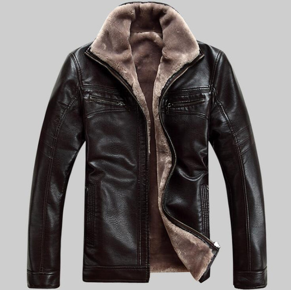 top popular Free shipping Men's brand luxury fur sheep leather men's fur coat very warm in winter leather jackets 2019