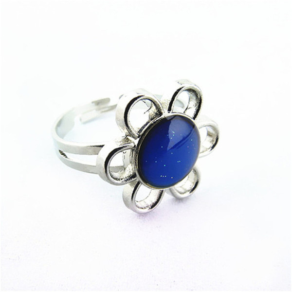 Mood Ring Free Shipping Wholesale 100 Pieces Mood ring color change The Magic of Sunflower Band Ring