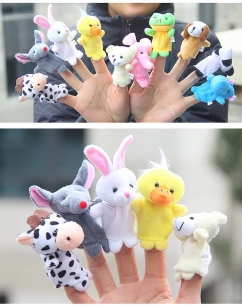 Los 10pcs / 6pcs Tierfinger-Marionetten-Plüsch spielt die Halloween-Weihnachtspuppen-Geschenke des Geschichte-Stützen-Kindes der Kinder