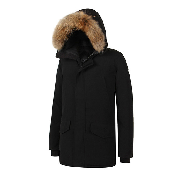 2017 Brand New Waterproof Mens thick Langford parka raccoon fur real feather down jacket Winter Warm coat
