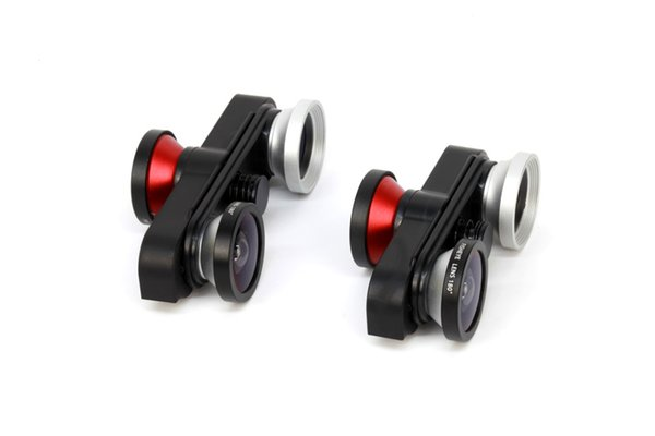 Mobile phone 4 in 1 180 degree front fish eye + Fisheye Lens + Macro Len + Wide-angle Lens for iphone 6 or 6 plus