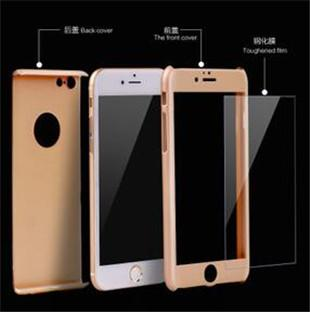 360 Degree Full Body Covered Ultra-thin Hard PC Cases With free Tempered Glass Screen Protector film back Cover for iPhone 6 6s plus 5S S6