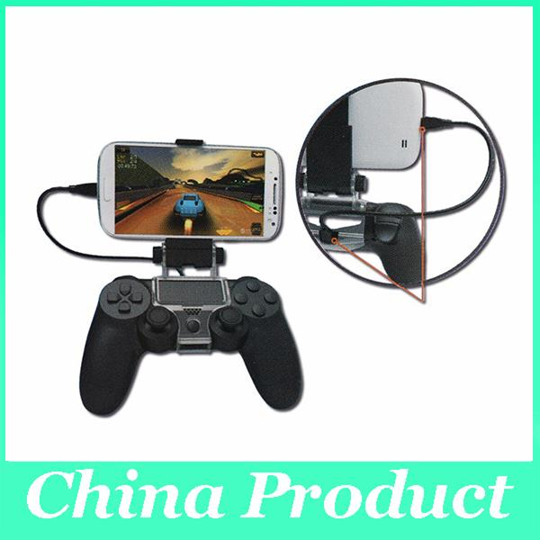 Cellphone Clamp Mobile Phone Clamp Smart Clip Holder Handle Bracket for PS4 DualShock 4 Controller Free Shipping 010207