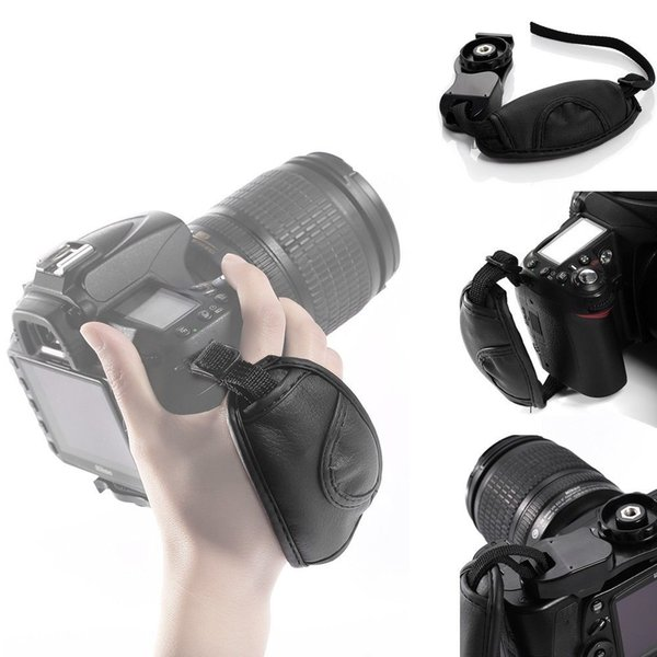 DSLR Camera Leather Grip Wrist Hand Strap for Canon Nikon Sony Olympus SLR DSLR Leather Soft Hand Grips straps