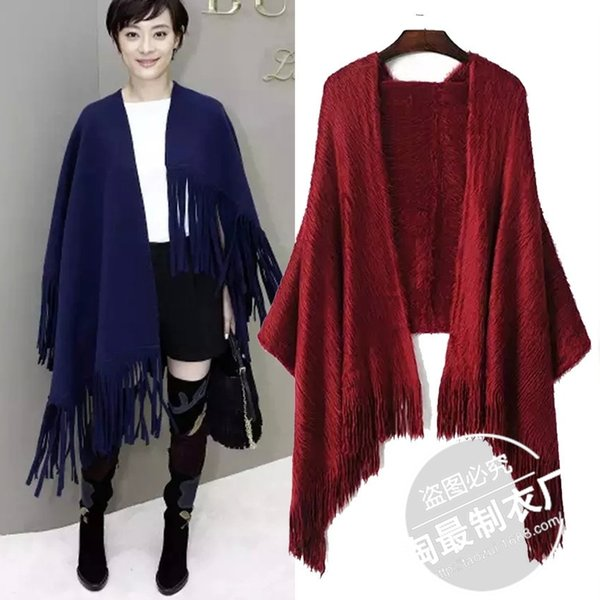 Pick up. Pick up -15BJ15 in autumn and winter new Sun Li with Ma Haimao and tzitzis female coat scarf