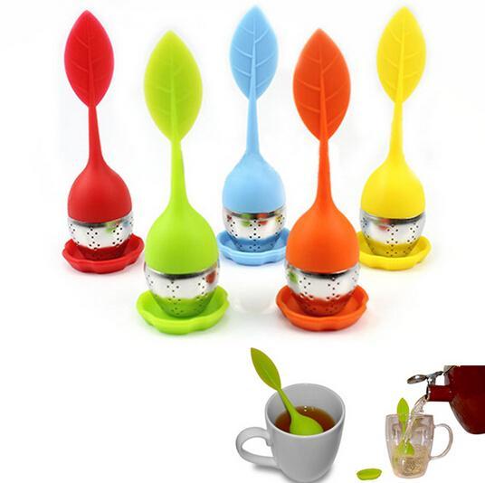 L'infusore del tè del silicone con il commestibile fa i filtri creativi del tè dell'acciaio inossidabile del filtro dalla bustina di tè 5 colori