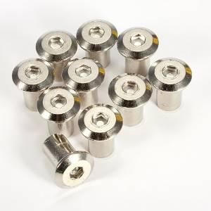 Rivet hexagon socket head cap screw aluminium barrel nut M6 furniture hardware(Pack of 10)