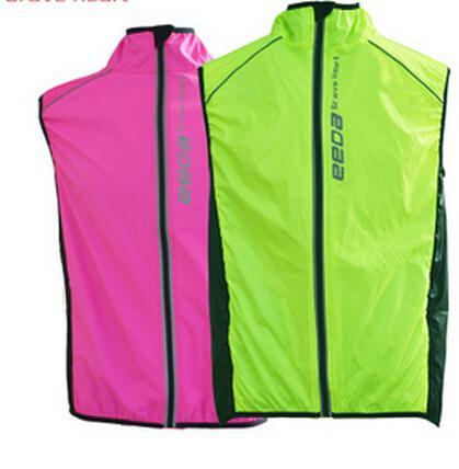 Wholesale-2015 Radfahren Jacke Kleidung Reiten Winddicht Weste Männer Frauen Breathable Jacke Bike Sleeveless Waterproof Coat