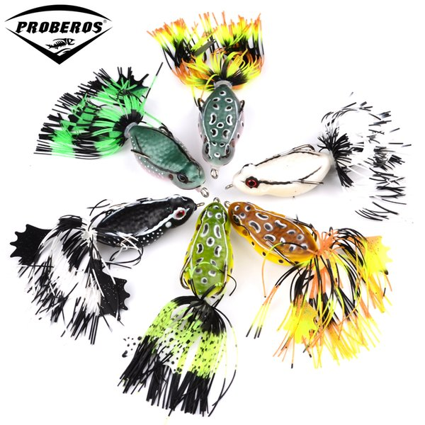 "1pc Proberos Brand Frog Lure High Quality Fishing Bait 6 colors fishing lures 7cm-2.76""/0.46oz-12.95g fishing tackle"