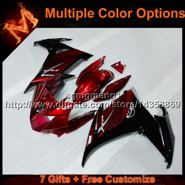 23colors + 8Gifts capucha de moto ROJA para yamaha FZ6R 09 12 10 11 FZ6R 2009 2012 2010 2011 ABS Plastic Fairing