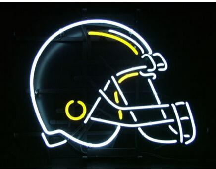 """HAT NEON SIGN REAL GLASS TUBE FOOTBALL BEER BAR PUB DISCO KTV CLUB STORE DISPLAY NEON LIGHT SIGN ADVERTISEMENT SIGN 17""""X14"""""""