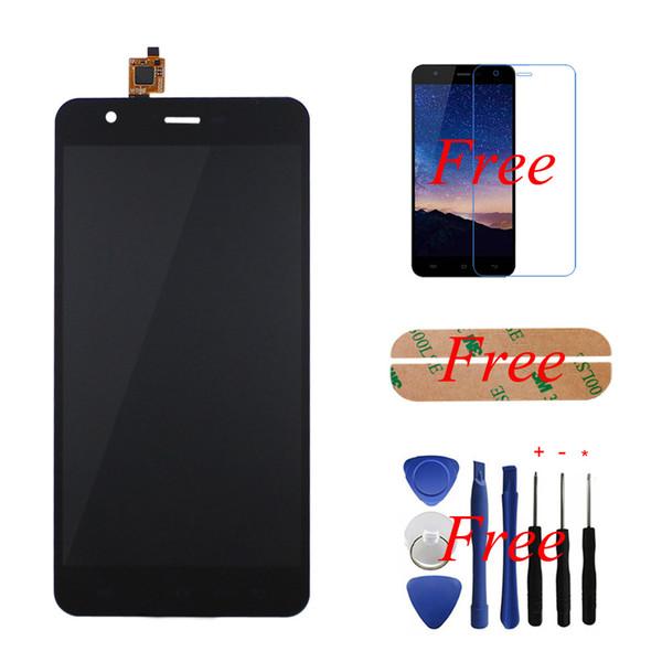 Toptan-Siyah-100% Jiayu S3 Için Orijinal LCD Ekran + Dokunmatik Ekran Cam Panel 5.5 '' Digitizer Meclisi Değiştirme