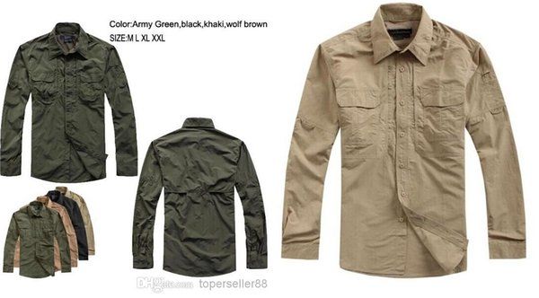 best selling Tactical Outdoor sports Combat quick dry breathable full sleeve Cycling Camping Fishing Hunting men's Quick-drying fabric shirts