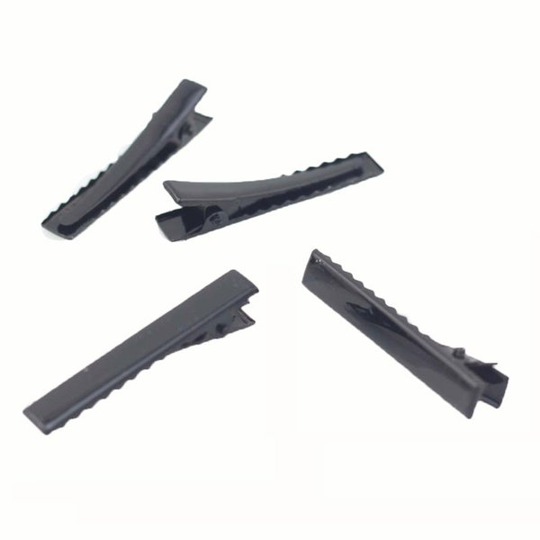 Wholesale- 10PCS Black Hair Pins Flat Metal Single Prong Alligator High Quality HairClips Professional Hairdressing Accessories HairClips
