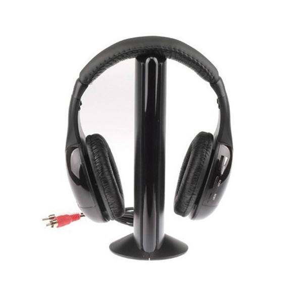 Vente chaude 5 en 1 Salut-Fi Sans Fil Écouteur Casque Pour Radio FM MP3 CD PC TV Livraison Gratuite